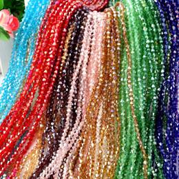 Опт Продажа смесь цветных граненых хрустальных бикон бусин 4 мм 6 мм свободных шариков DIY ювелирные изделия