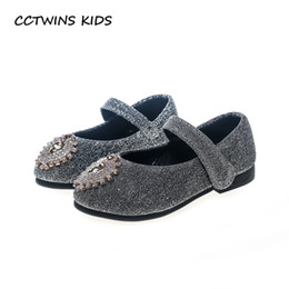 CCTWINS KIDS 2018 Autumn Baby Black Party Princess Shoe Toddler Fashion  Dance Flat Girl Rhinestone Mary Jane Child GM2036 51d743a82cc3