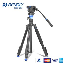 Chinese  BENRO Tripod Kit Aero 2 A1883fS2c Professional Aluminum Tripod For Video Camera 3D Fluid Head Videotape Dual-use manufacturers