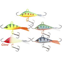 Jigs Lures For Fishing Australia - Seanlure 5cm 7.5g 5pcs lot Winter Ice Winter Fishing Lure Fake Lure Artificial Bait Leurre Balancer for Carp Walleye Hard Tackle Lures