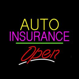 "$enCountryForm.capitalKeyWord Australia - Auto Insurance Open Cars Vehicles Neon Sign Handmade Custom Real Glass Tube Store Company Advertise Decoration Display Neon Signs 17""X14"""