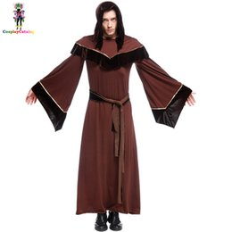 $enCountryForm.capitalKeyWord NZ - Ghost Style Halloween Adult Party Men's Religious Priest Costume,Men Plus Size Witches and Wizards Cape Dark Sorcerer Robe