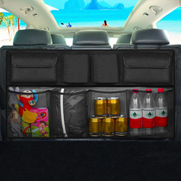 Abs Storage Case NZ - organizer box Auto 2 in 1 Foldable Back Seat Storage Bag High Capacity Car Organizer Box Interior Accessories
