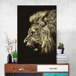 Art Canvas Prints Australia - 1 Piece Animal Lion Face Wall Art Canvas Print and Poster Painting Nursery Nordic Scandinavian Decoration Wall Picture No Framed
