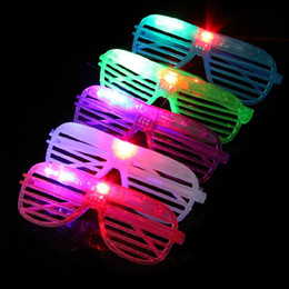 sunglasses bars NZ - LED Luminous Glasses Shutter Shape Glasses LED Flash Glasses Plastic Sunglasses Dance Party Bar Supplies wen7034