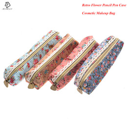 Lace stationery online shopping - 1Pcs Fashion Mini Retro Flower Floral Lace Pencil case pen bag School Office Supplies Zipper Pencil Holder Bag Gift Stationery