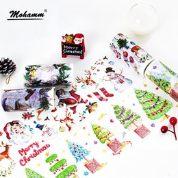 Wholesale 100mm Creative Christmas Masking Washi Tape Decorative Tape Sticker Label Stationery For Kid Child Gifts School Office Supplies