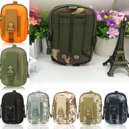 Molle pouches accessory online shopping - Universal Sporty outdoor sports molle waist pack fanny Camo Bag belt bags EDC Camping hiking running pouch wallet toys new arrival colors