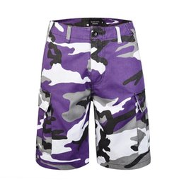 2018ss Black Icon Summer Colourful Camouflage Men Shorts Hiphop Streetwear Men  Camo Casual Knee Length Shorts 4d57a1756a0c