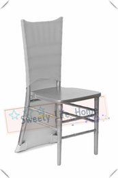 $enCountryForm.capitalKeyWord Australia - Free shipping Nice Spandex chiavari chair covers Silver Strech Banquet chair covers Slub chair caps Events decorations