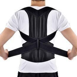 6b836ba370e71 Adjustable Adult Back Brace Support Posture Corrector Therapy Shoulder  Lumbar Spine Clavicle Support Belt Posture Correction