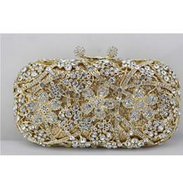 $enCountryForm.capitalKeyWord Canada - 2017 New Golden Crystal Clutch Bag for Women Heavy Cherry Blossom Crystal Evening Bag with Gold Chain Wedding Clutch for Bride