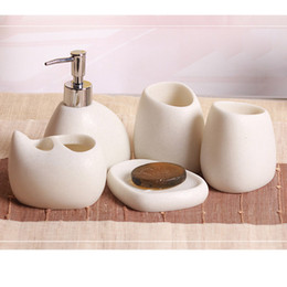inexpensive bathroom accessories. Discount Bathroom Decoration Soap  5 Pcs Set Bathroom Accessories Resin Cobblestone Design Latex Bottle Tooth Decoration Soap 2018 On
