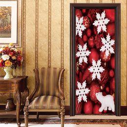 $enCountryForm.capitalKeyWord NZ - YMT160 Creative 2pcs set Window Winter Christmas White Snowflake Door Stickers PVC Poster Wallpaper Winow Wall Decals Xmas party Home Decor