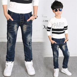 Jeans For Big Waist Canada - 2018 New Spring and autumn Fashion Boys Denim Jeans. big boys slim jeans, Suitable for age: 3 4 5 6 7 8 9 10 11 12 13 14 year.