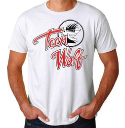 2d69bed9 Teen Wolf Logo 80's Funny Comedy movie Inspired Costume Party New White T- Shirt
