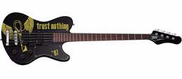 $enCountryForm.capitalKeyWord Australia - Simon Gallup Ultra Spitfire Bass Gloss Black w Simon Gallup Red Graphic 4 Strings Electric Bass Guitar Neck Through Body, Copy EMG Pickups