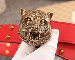 tiger head belt NZ - 2018 hot sale! Tiger head buckle! Fashion designers, men and women belts, high quality brand belts, men's belts gift boxes, free delivery.