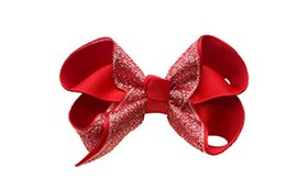 $enCountryForm.capitalKeyWord UK - SALE Hair Bows Girls Boutique parkly Bows Sequin Alligator Clips s For Toddlers Grosgrain Ribbon Bows Adorable Gift Set Of 9 colors 15PCS