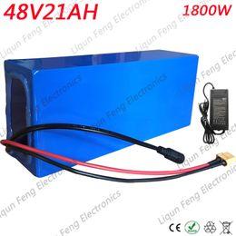 Tax Free alta potência 1800 W 48 V 20AH bateria de bicicleta elétrica 48 V 20AH E-bike bateria de 48 volts bateria de lítio com 50A BMS 2A carregador venda por atacado