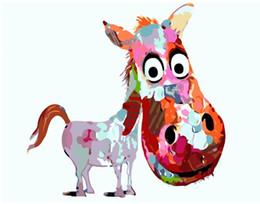 $enCountryForm.capitalKeyWord UK - High Quality Abstract Animal Oil Painting Handpainted & HD Print Graffiti Pop Wall Art Home Decor On Canvas Multi Sizes Frame Options a73