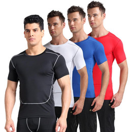 Quick Dry Shirts For Men Australia - Men Quick Dry Sport Shirt,Professional Short Sleeve Breathable Exercises Yoga Top T-Shirts For Gym Running Fitness 2018