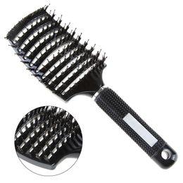 $enCountryForm.capitalKeyWord Australia - style comb 2 Style Hair Scalp Massage Comb Hairbrush Bristle&Nylon Curly Detangle Hair Brush for Salon Hairdressing Styling Tools