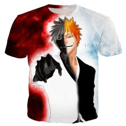 Wholesale Newest Fashion Anime BLEACH T Shirt Funny D Printed Women Men Short Sleeve Unisex T shirt Casual Tops K182