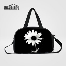 sports girl duffle bag Canada - Good Quality Women Travel Bag Duffle Bags Personalized Flower Pattern Meduim Capacity Sport Gym Bag Brand Designer Luggage Weekend Handbags