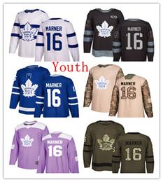 Child hoCkey jersey online shopping - Youth Kids Child Toronto Maple Leafs Mitchell Marner Hockey Jerseys White Stadium Blue Green Salute th Purple Camo
