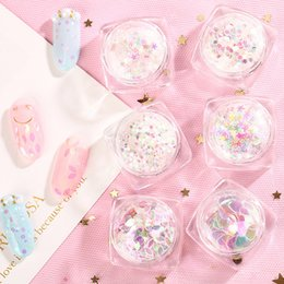 Large heart stickers online shopping - New Nail Art Laser Glitter Nail Polish Gel Paster Star Heart Shaped Phantom Color Large Sequins Stickers DIY Accessories