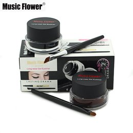 $enCountryForm.capitalKeyWord UK - Music Flower Brand Eye Makeup 2 in 1 Coffee + Black Gel Eyeliner Make Up Water-proof Smudge-proof Set Eye Liner Kit With Brushes M1007
