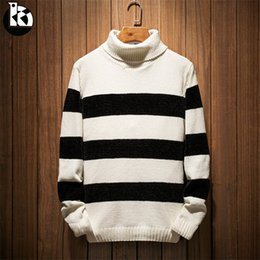 Branded Men Sweater NZ - Autumn And Winter New High Quality Solid Color Loose Long Sleeve Pullover Men Fashion Casual Brand Trend Stripes Mens Sweaters