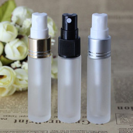 frosted perfume bottles NZ - HOt USA UK 10ML Empty Glass Spray Containers with with Pump Atomizer,Thick Frosted Clear Mist Sprayer Pump Bottles for Perfume Oil