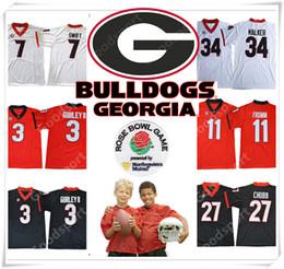 YOUTH Rose bowl 2018 Georgia Bulldogs NCAA Jersey 3 GURLEY II 7 SWIFT 11  Jake Fromm 10 Jacob Eason 27 Chubb 34 Herschel Walker Jerseys 19 b798240cc