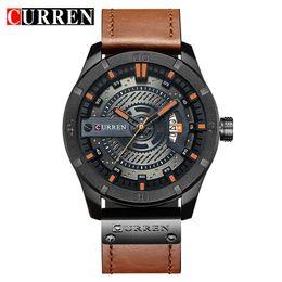 curren analog men watches black 2019 - masculinos relogios CURREN Top Brand Luxury watch men date display Leather creative Quartz Wrist Watches relogio masculi