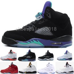 Discount mesh fire - Designer Basketball Shoe 5 5s V Olympic Metallic Gold White Cement Athletic Shoes OG Black Metallic Red Blue Suede Fire