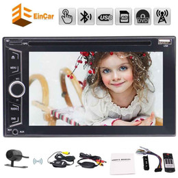 stereo dvd player Canada - Wireless camera Eincar double Car dvd Multimedia Player Audio Stereo radio 6.2'' in dash Bluetooth USB FM Autoradio MP3 Bluetooth