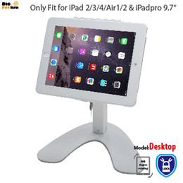 tablet anti theft 2019 - Tablet Stand Anti-Theft Kiosk Mount for iPad air 1 2 Pro 9.7 holder Mount display for tablet metal with Lock desktop Sec