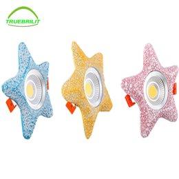 Super Brilhante Regulável Embutida LED Downlights COB 5 W 7 W LED Spot light LED decoração Lâmpada de Teto 110 V 220 V crianças quarto de criança venda por atacado
