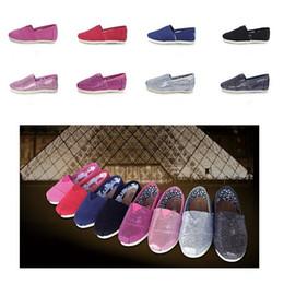 $enCountryForm.capitalKeyWord NZ - Sequins Kids Sneakers Summer Low-cut Canvas Shoes Children Boys Girls Lazy Slip-on Sports Shoes plimsolls casual leisure doug shoes 8 color