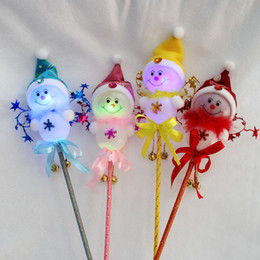 chinese girls toys 2020 - Christmas decorations glowing snowman stick Christmas children's toys discount chinese girls toys
