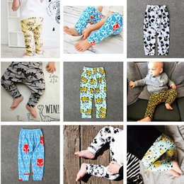 Discount yellow leopard girl clothing - Wholesale boy girls Leggings Pants casual trousers baby clothes infant Baby Kids Clothing dinosaur animal leopard patter