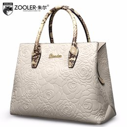 embossed pattern leather tote ZOOLER 2018 genuine leather bags handbag  women bag real limited in stock bolsa feminina  5002 18573ac5b101f