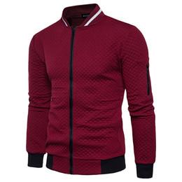 Fashion Jackets NZ - New Trend White Fashion Men Jacket Men Veste Homme Bomber Fit Argyle Zipper Varsity Jacket Casual Jacket For Fall