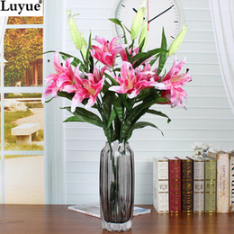 Artificial flowers wholesale stores australia new featured luyue official store 4pcs 2 heads 87cm lily flowers artificial flower silk flowers home decor for wedding gifts mightylinksfo