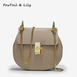 $enCountryForm.capitalKeyWord NZ - FoxTail & Lily Korean Genuine Leather Chain Bag Women Crossbody Bags Ladies Handbags Small Shoulder Messenger Bag for Girls