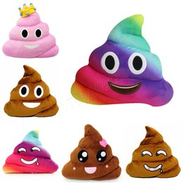 China Funny Smiley Face Pillow Emoji Cushion Amusing Poop poo Sofa Decorative Pillows Stuffed Plush Toys 12 Styles Gag Toys kids gifts supplier gagged game suppliers