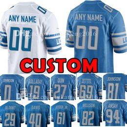 8f15109df Custom Detroit Jersey Lion 29 LeGarrette Blount 81 Johnson 82 Luke Willson  27 Quin 94 Ansah 19 Golladay 61 Hyder Jr. 69 Zettel 0 Johnson