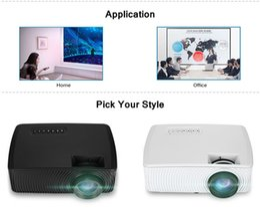 x mini speaker usb 2019 - RD816 Mini LED Projector LCD Projector Home Theater 1200 Lumens 800 x 480P with Speaker Support 1080P AV HDMI USB VGA fo